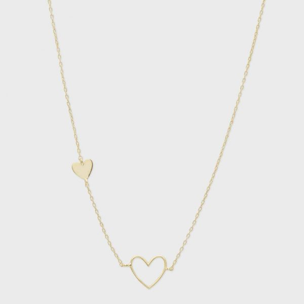 GORJANA HEART CHARM NECKLACE