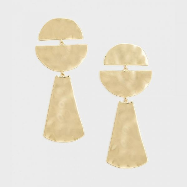 GORJANA LUCA HALF CIRCLE EARRINGS