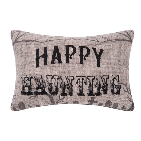 GOTH HAPPY HAUNTING PILLOW