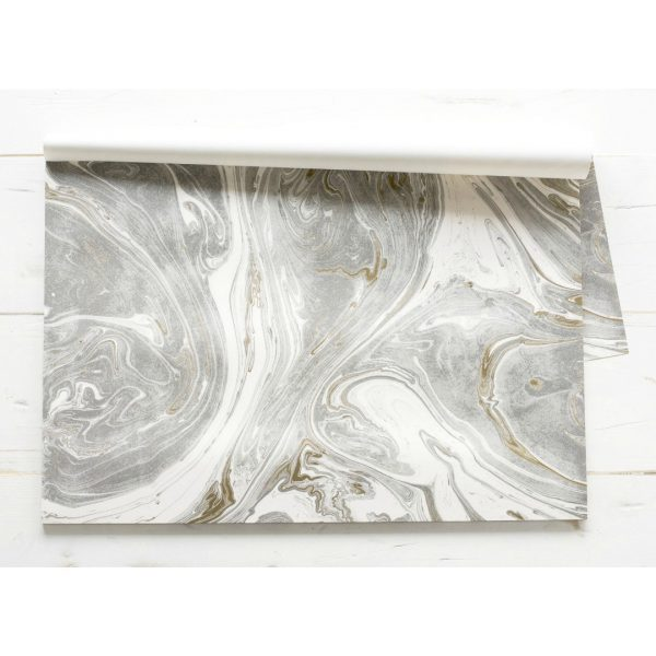 GRAY AND GOLD MARBLE PAPER PLACEMAT