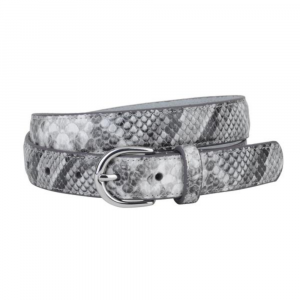 GREY SNAKESKIN BELT