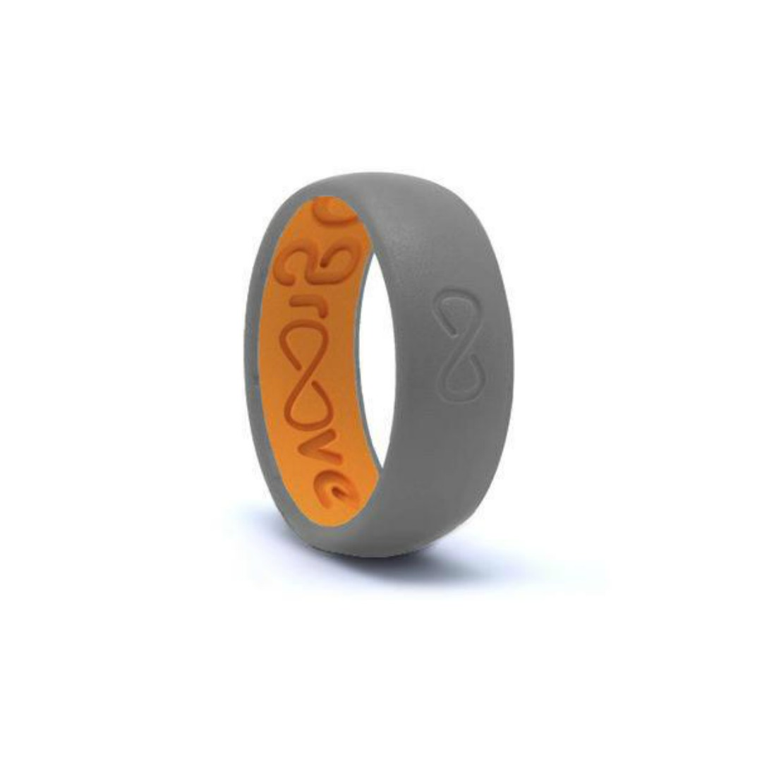 GROOVE ORIGINAL GREY & ORANGE RING
