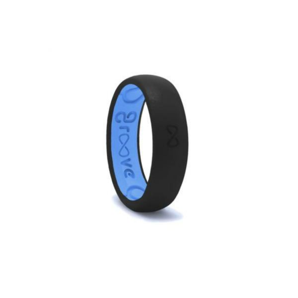 GROOVE THIN BLACK & BLUE RING