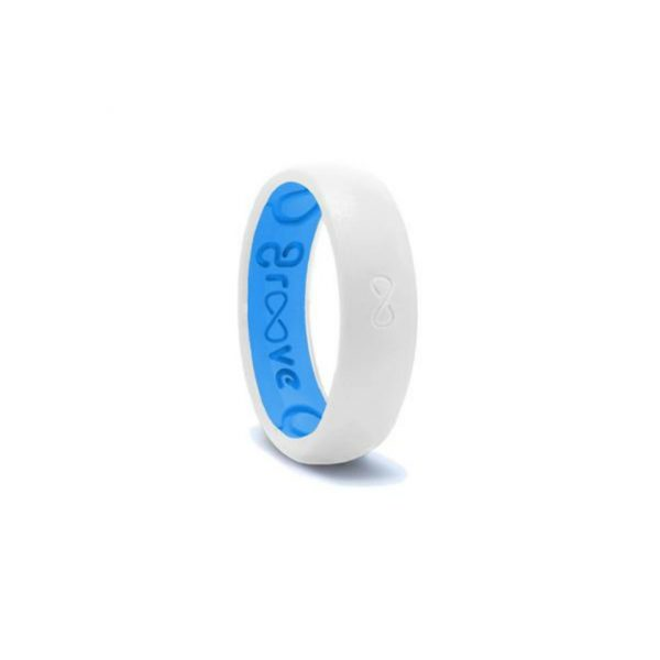 GROOVE THIN WHITE & BLUE RING