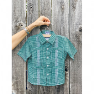 BLUE QUAIL GUAYA GREEN CHECK