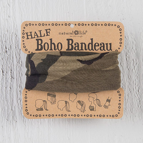 HALF BANDEAU OLIVE CAMO