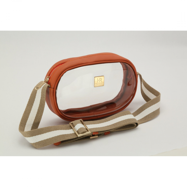HAMPTON ROAD ANNIE COGNAC WITH TAN AND WHITE STRAP