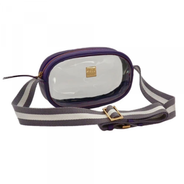 HAMPTON ROAD ANNIE PURPLE WITH GREY AND WHITE STRAP