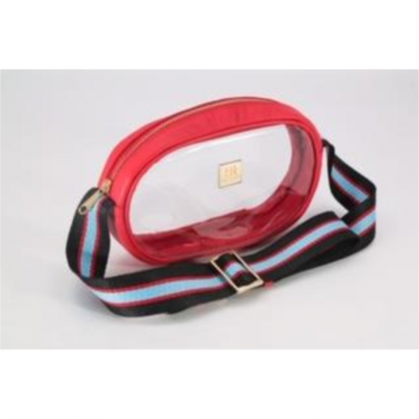 HAMPTON ROAD ANNIE VERMILLION RED WITH BLACK BLUE AND RED STRAP