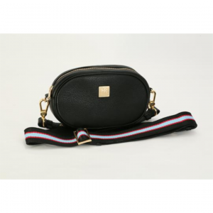 HAMPTON ROAD LEATHER ANNIE BLACK WITH BLUE RED AND BLACK STRAP