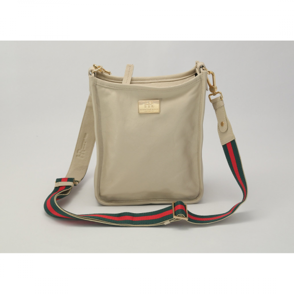 HAMPTON ROAD LEATHER ZUMA OYSTER WITH RED AND GREEN STRAP