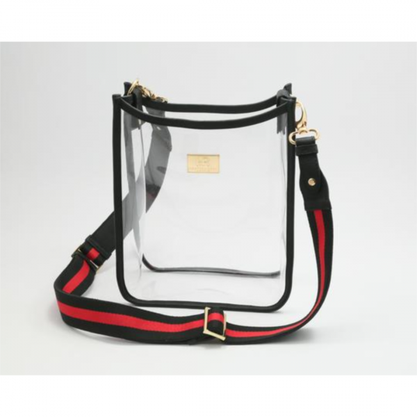 HAMPTON ROAD ZUMA BLACK WITH RED AND BLACK WEBBING STRAP