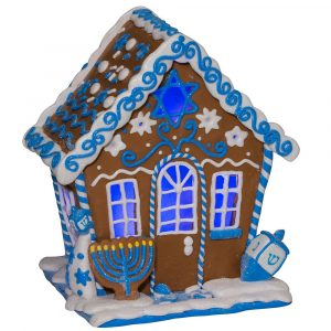 HANUKKAH GINGERBREAD LED HOUSE