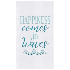 HAPPINESS COMES IN WAVES KITCHEN TOWEL