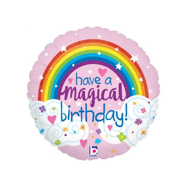 HAPPY BIRTHDAY GLITTER RAINBOW BALLOON