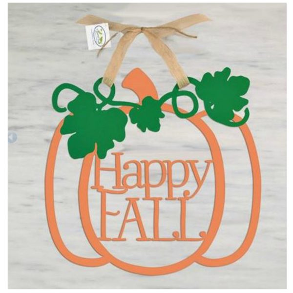 HAPPY FALL PUMPKIN WOOD HANGER