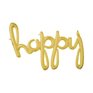 HAPPY GOLD SCRIPT BALLOON