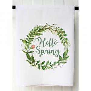 HELLO SPRING FLOUR SACK TOWEL