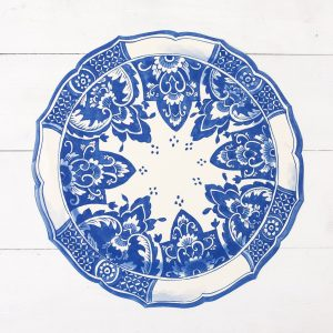 HESTER & COOK DIE-CUT CHINA BLUE PLACEMAT
