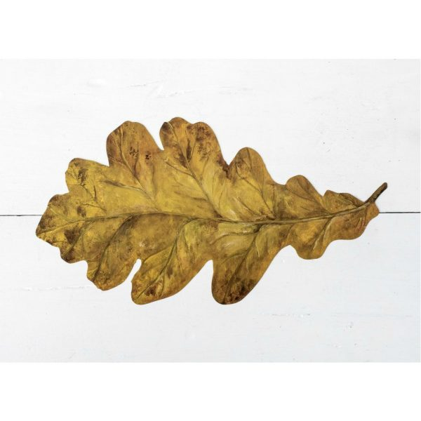 HESTER & COOK OAK LEAF TABLE ACCENT