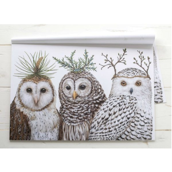 HESTER & COOK WINTER OWLS PLACEMAT