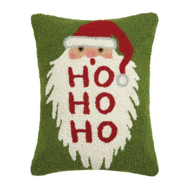 HO HO HO SANTA HOOK PILLOW