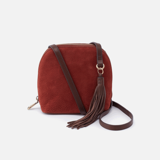 HOBO HANDBAGS NASH NUBUCK LEATHER CROSSBODY