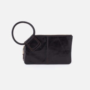 HOBO HANDBAGS SABLE VINTAGE LEATHER CLUTCH