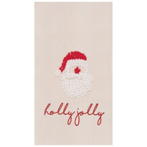 HOLLY JOLLY SANTA TOWEL