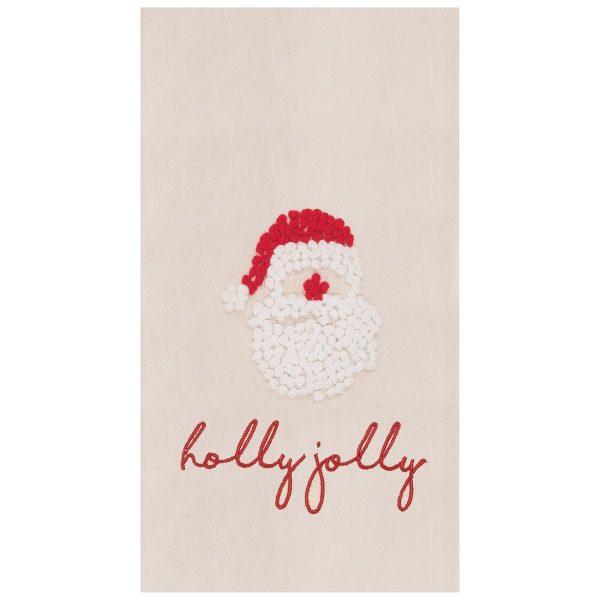 HOLLY JOLLY SANTA TOWEL
