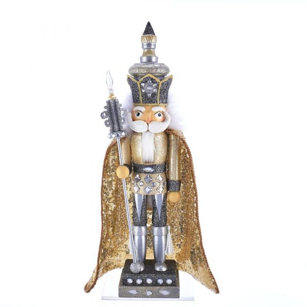 HOLLYWOOD GOLD AND SILVER KING NUTCRACKER