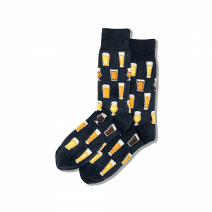 HOT SOX MEN'S BEER CREW SOCKS