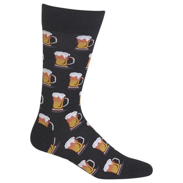HOT SOX MEN'S BEER MUGS SOCKS