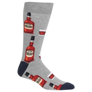 HOT SOX MEN'S BOURBON CREW SOCKS