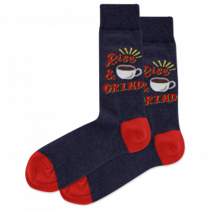 HOT SOX MEN'S RISE AND GRIND CREW SOCKS