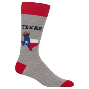 HOT SOX MEN'S TEXAS CREW SOCKS