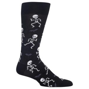 HOTSOX MEN'S DANCING SKELETON CREW SOCKS