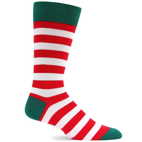 HOTSOX MEN'S HOLIDAY STRIPE SOCKS