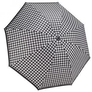 HOUNDSTOOTH REVERSE CLOSE UMBRELLA