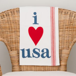 I LOVE USA TEA TOWEL