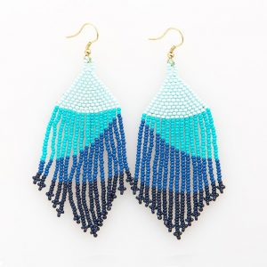 INK AND ALLOY BLUE OMBRE FRINGE EARRINGS