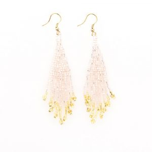 INK AND ALLOY BLUSH AND GOLD SMALL FRINGE EARRINGS