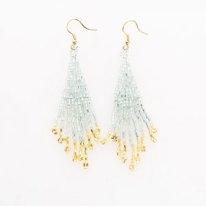 INK AND ALLOY SKY AND GOLD SMALL FRINGE EARRINGS