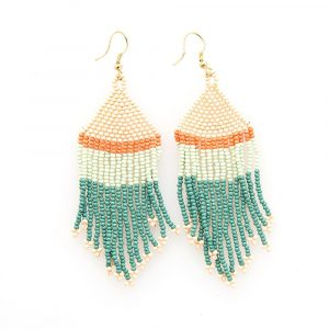 INK AND ALLOY STRIPE FRINGE EARRINGS