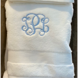 INTERLOCKING MONOGRAMMED BATH TOWEL