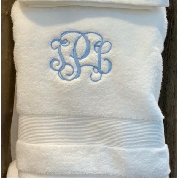 INTERLOCKING MONOGRAMMED BATH TOWEL