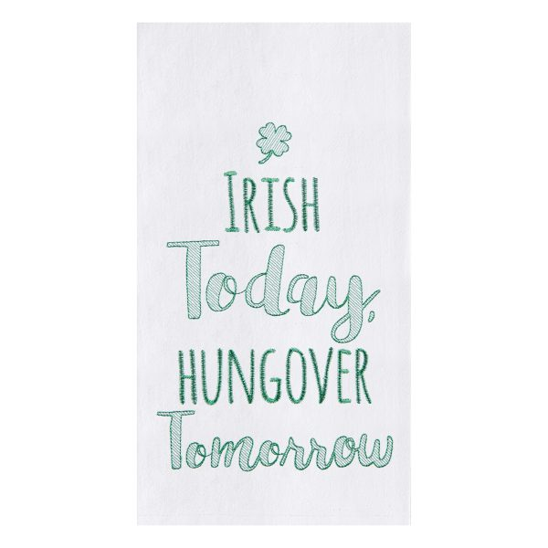 IRISH TODAY HUNGOVER TOMORROW TOWEL