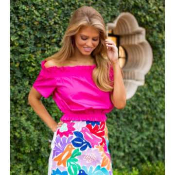 J MARIE PINK SHELBY TOP