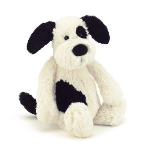 JELLY CAT BASHFUL BLACK AND WHITE PUPPY