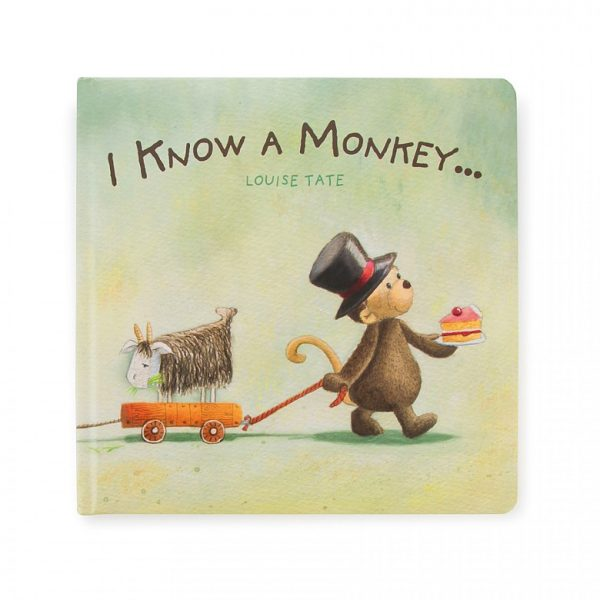 JELLY CAT I KNOW A MONKEY BOOK